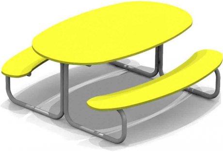 Столик со скамейками - купить у производителя