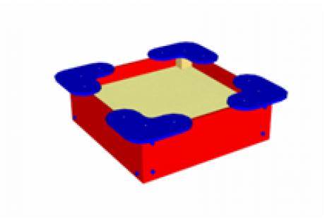 Песочница малая «Квадрат» - купить у производителя
