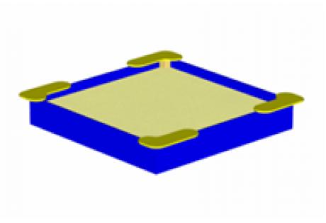 Песочница среднего размера «Квадрат» - купить у производителя