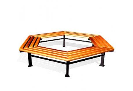 Скамья парковая шестигранная СП-7.3 - купить у производителя