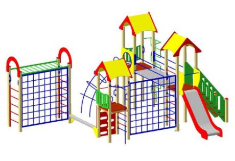 Детский игровой комплекс ДИК22 «Двойной» - купить у производителя