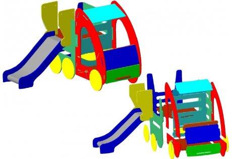 Детский игровой комплекс «Машина с горкой»