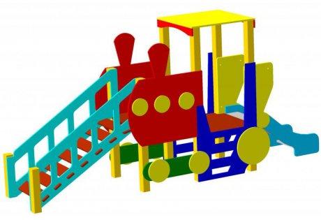 Детский игровой комплекс «Паровоз» - купить у производителя