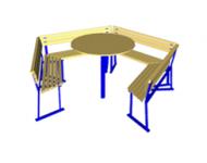 Садовый комплект: стол с диванами - купить у производителя