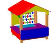 Песочница-домик со счётами - купить у производителя