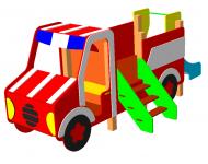 Детский игровой комплекс «Пожарная машина» - купить у производителя