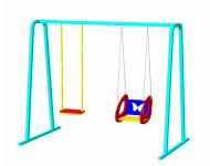 Качели двухместные на цепях «Двойные» - купить у производителя