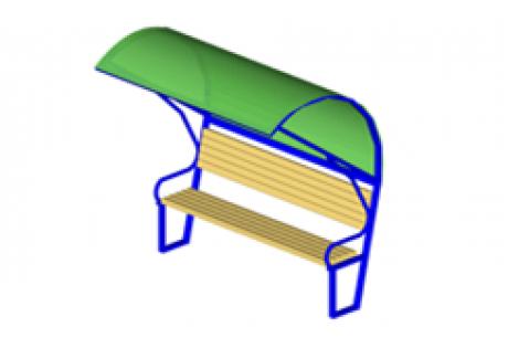 Скамейка с навесом - купить у производителя