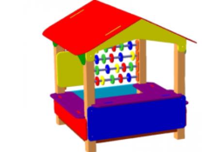 Песочница-домик со счетами - купить у производителя