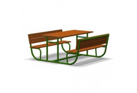 Стол со скамьями - купить у производителя