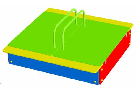 Песочница-трансформер со створками - купить у производителя