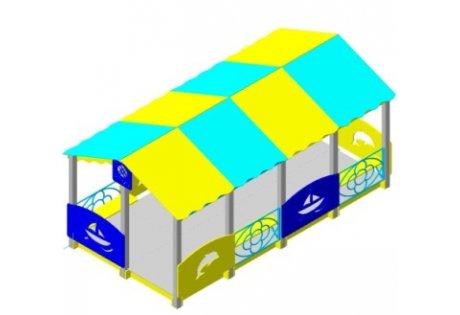 Веранда-беседка «Детсад-1» - купить у производителя