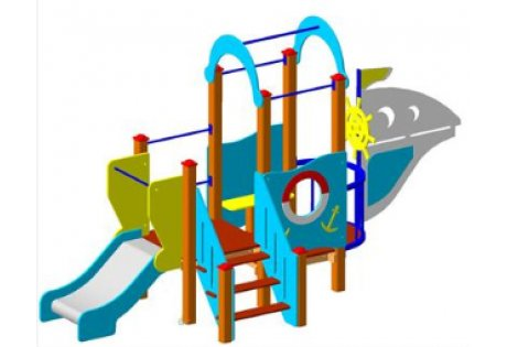 Детский игровой комплекс «Кораблик» - купить у производителя