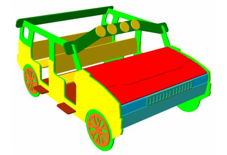 Игровой макет «Машинка кабриолет» - купить у производителя