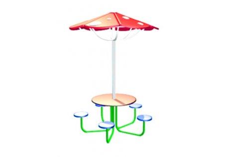 Столик детский с навесом «Грибок» - купить у производителя