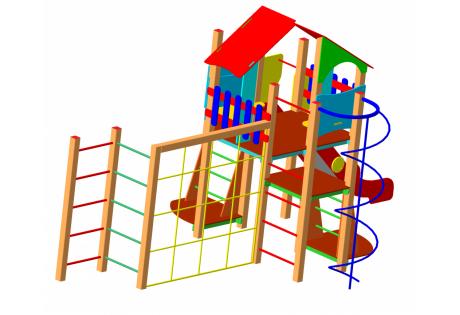 Детский игровой комплекс ДИК-66 - купить у производителя