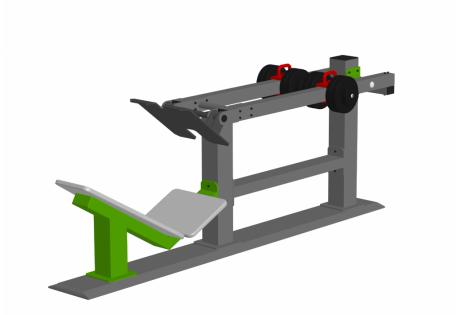 Тренажер уличный «Жим ногами» с переменной нагрузкой РН 05 - купить у производителя