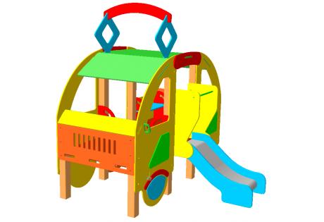 Детский игровой комплекс «Трамвай» - купить у производителя