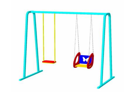 Качели двойные на цепях - купить у производителя