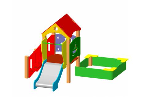 Детский игровой комплекс ДИК 1.12.М - купить у производителя