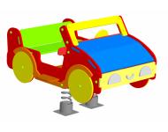 Качалка на пружине «Автомобиль» 2 пружины - купить у производителя