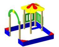 Песочный дворик малый - купить у производителя