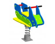 Качалка на пружине «Скутер» - купить у производителя